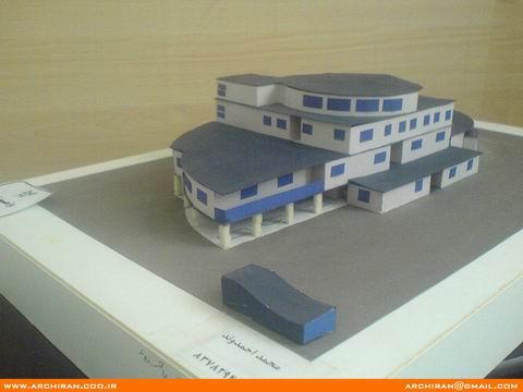 طراحی ، ترسيم نقشه سه بعدی و اجراي ماكت هنرستان هنر و معماری - ترم چهارم